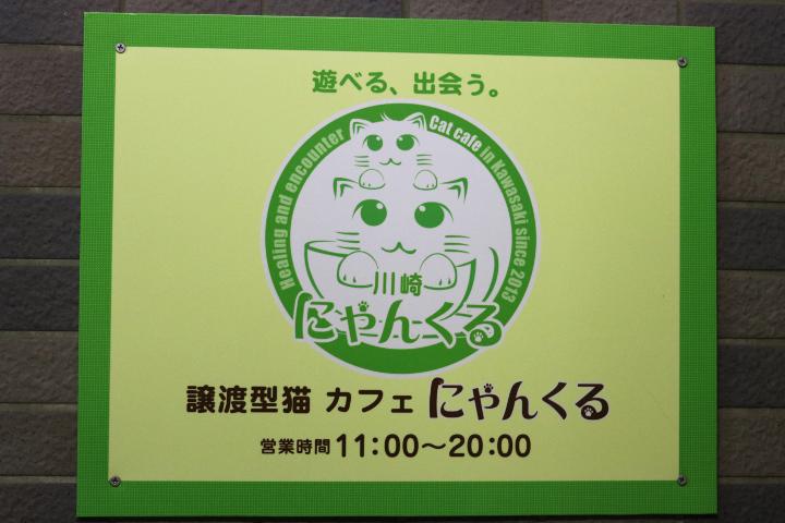 譲渡型猫カフェにゃんくる川崎店のエントランス